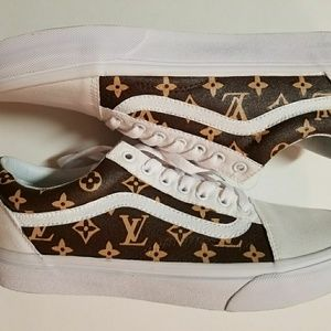 Custom painted Louis Vuitton Old Skool Vans
